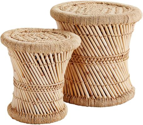 Bamboo Indian Stools - Set of 2 image 3