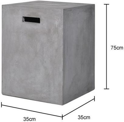 Square Concrete Stool image 2