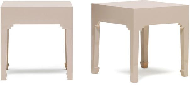 Chinese Pair of Stools in Oyster Grey