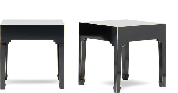 Classic Chinese Pair of Stools - Black