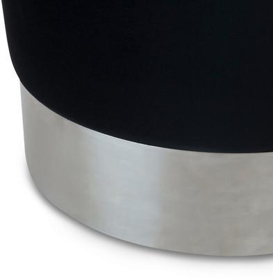 Eliott Velvet Stool Steel or Brass Base image 11
