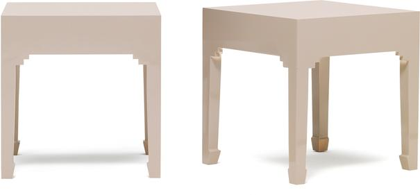 Classic Chinese Pair of Stools - Oyster Grey