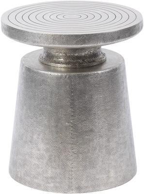 Astor Hand Embossed Silver Metal Martini Stool