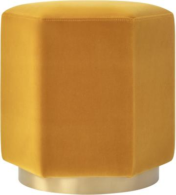 Monti Hexagon Velvet Stool - Yellow or Olive