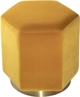 Monti Hexagon Velvet Stool - Yellow or Olive image 2