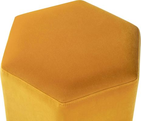 Monti Hexagon Velvet Stool - Yellow or Olive image 3