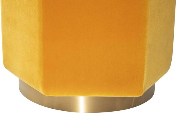Monti Hexagon Velvet Stool - Yellow or Olive image 4