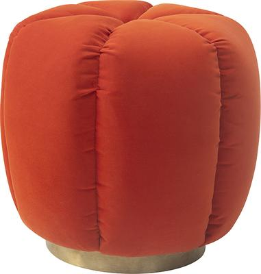 Calder Velvet Cushioned Stool
