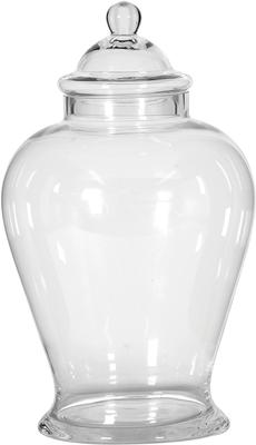Clear Glass Ginger Jar