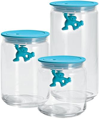 Alessi Gianni Storage Jar in Light Blue