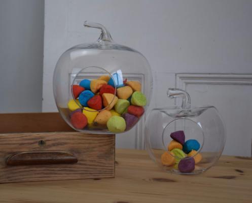Apple Shaped Terrarium Glass Storage Jar 23cm image 3