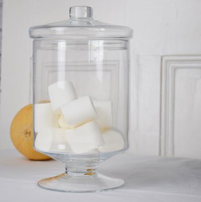 Large Glass Round Bonbon Jar & Lid 30cm