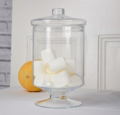 Large Glass Round Bonbon Jar & Lid 30cm image 2