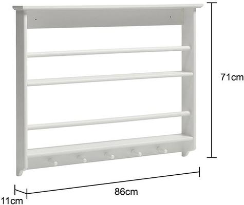 White Plate Rack French-style image 2