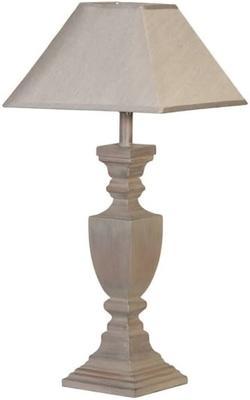 Grey Wash Squared Urn Table Lamp
