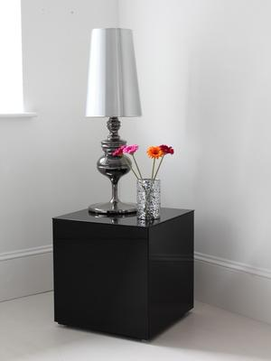 Tall Polished Pewter Table Lamp
