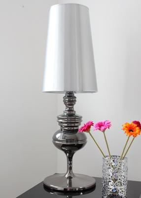 Tall Polished Pewter Table Lamp image 3