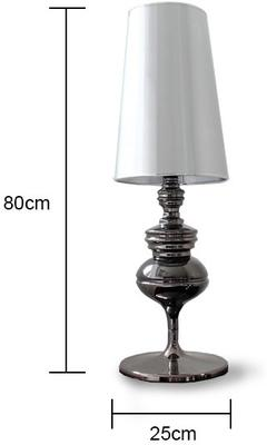 Tall Polished Pewter Table Lamp image 5