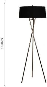 Tall Tripod Black Floor Lamp image 2