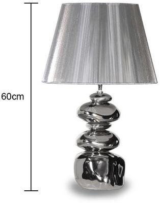 Shiny Silver Pebble Lamp image 2