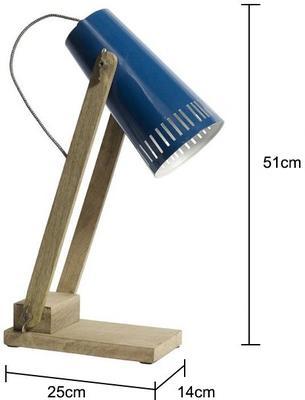 Wood Base Table Lamp Minimalist image 2