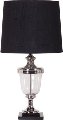Glass and Nickel Table Lamp