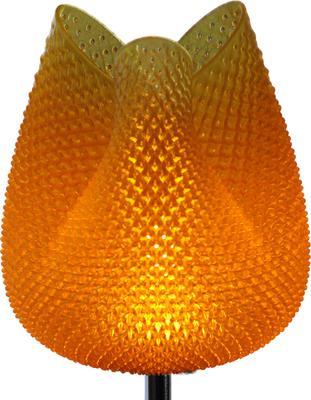 Tulip Table Lamp - Rippled Amber 47cm