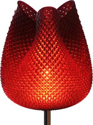Tulip Table Lamp - Rippled Terra cotta 47cm