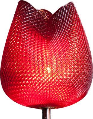 Tulip Table Lamp - Rippled Bordeaux 57cm