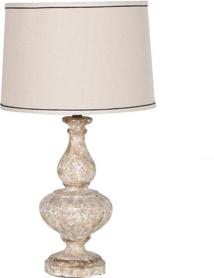 Stone Effect Table Lamp In Cream