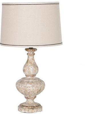 Stone Effect Table Lamp In Cream image 2
