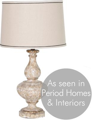 Stone Effect Table Lamp In Cream image 3