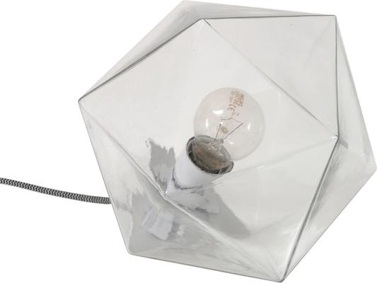 Geometric Table Lamp Clear Glass