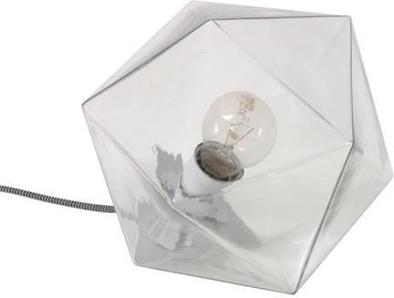 Geometric Table Lamp Clear Glass image 2
