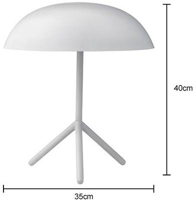 Tripod Domed Tablelamp with Brushed Gold Finish image 3