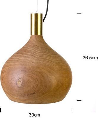 Hanging Wooden Amphora Lamp image 2