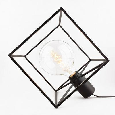Paradice Naked Table Lamp Black Wire Cube image 2