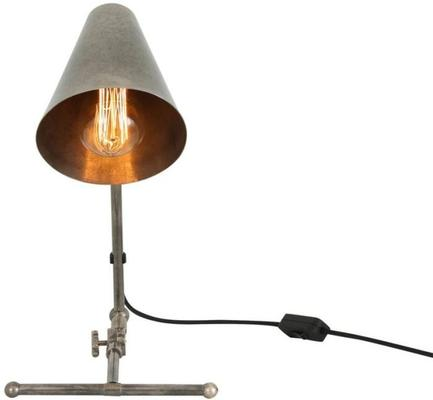 Comoro Industrial Antique Cone Table Task Lamp in Silver or Brass image 3