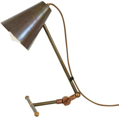 Comoro Industrial Antique Cone Table Task Lamp in Silver or Brass image 5