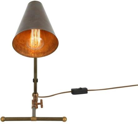 Comoro Industrial Antique Cone Table Task Lamp in Silver or Brass image 6