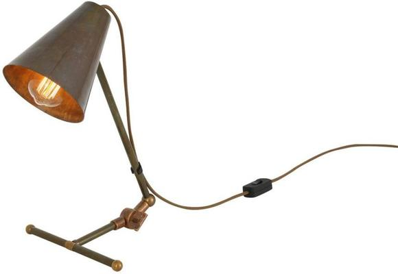 Comoro Industrial Antique Cone Table Task Lamp in Silver or Brass image 7