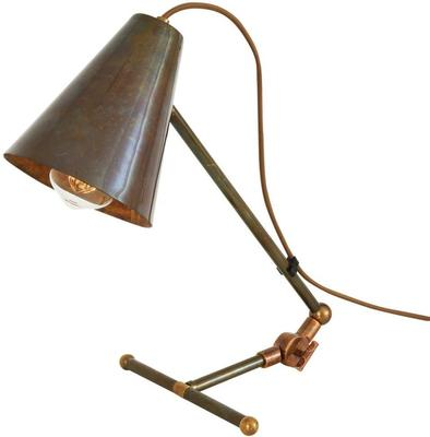 Comoro Industrial Antique Cone Table Task Lamp in Silver or Brass image 8