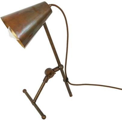 Moya Antique Adjustable Table Task Lamp in Brass or Silver image 4