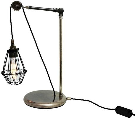 Apoch Cage Table Lamp Industrial with Pulley