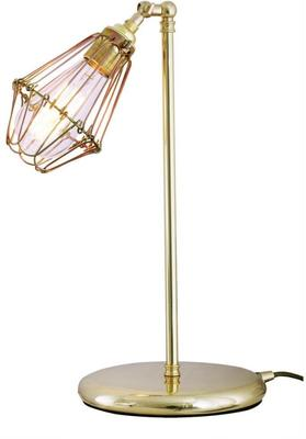 Praia Industrial Cage Table Lamp Brass, Silver or Black