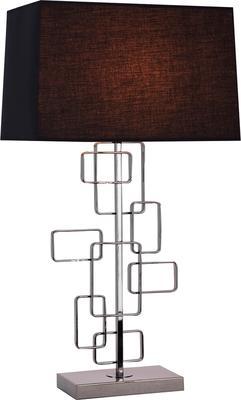 Geo Black Nickel Table Lamp