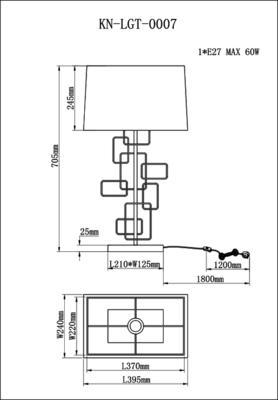 Geo Black Nickel Table Lamp image 4