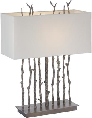 Rigg Twig Antique Brass Funky Table Lamp Light Shade