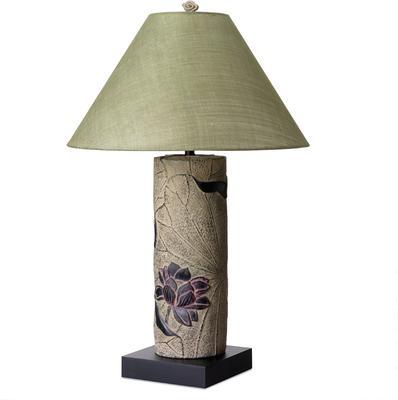 Stone Lotus Lamp