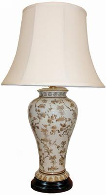 White & Brown Ceramic Table Lamp